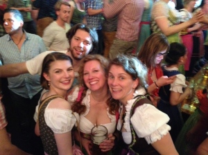 My friends and I at Frühlingsfest.
