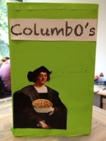 I love how Columbus cradles his O's.