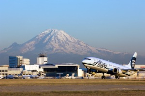 View of Mt. Rainer from Sea-Tac Airport. (Port of Seattle)