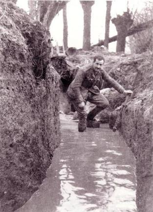 A water logged trench (c/o Johndclare.net)