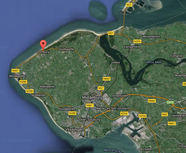View of the beaches of Zeeland on Google Maps