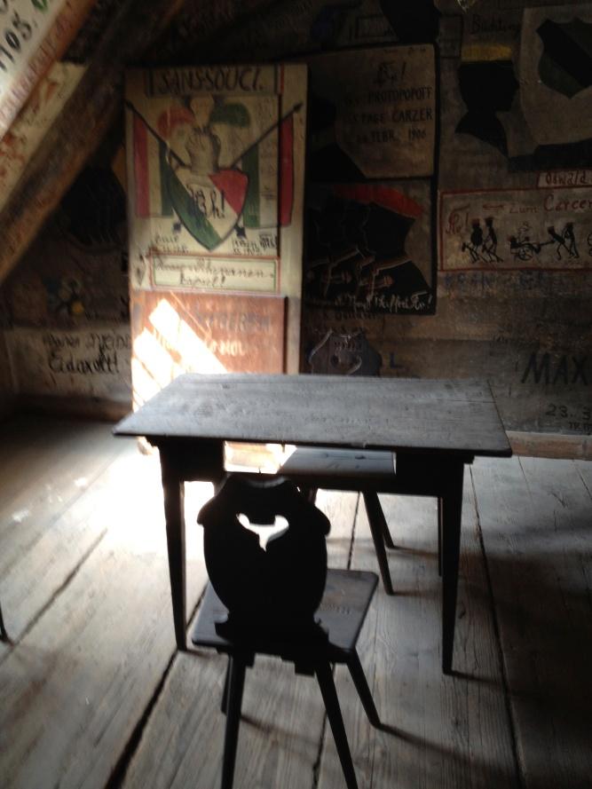 The student desk.