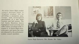 Yearbook photo from Vahey's first teaching position.  c/o Yahoo news