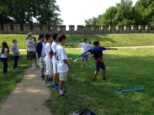 Javelin contest.