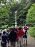 Our march through the forest. First stop, shrine of Jupiter.
