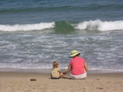 Coast Guard beach with my favorite girl.